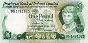 1 Pound (Provincial Bank of Ireland) – avers