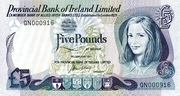 5 Pounds (Provincial Bank of Ireland) – avers