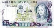 5 Pounds (Allied Irish Banks) – avers