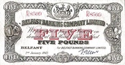 5 Pounds (Belfast Banking Company) – avers
