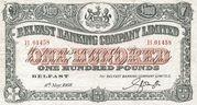 100 Pounds (Belfast Banking Company) – avers