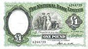 1 Pound (National Bank) – avers