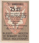 75 Pfennig (Nortorf) – avers