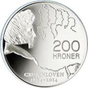 200 Kroner - Harald V (200th anniversary of the constitution) – revers