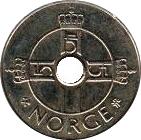 1 krone - Harald V (type 2) -  avers