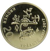 20 Kroner - Harald V (Premier congrès sami) -  revers