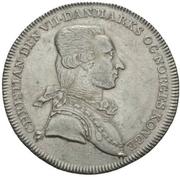 1 Reisedaler - Christian VII – avers