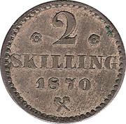 2 skilling - Carl XV – revers
