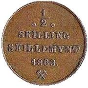 ½ Skilling - Carl XV – revers