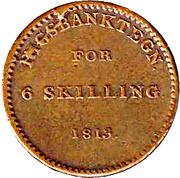 6 Skilling - Frederik VI – revers