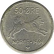 50 øre - Olav V -  revers