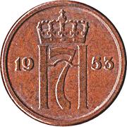 1 øre - Haakon VII – avers
