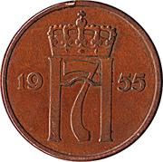 5 øre - Haakon VII -  avers