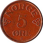 5 øre - Haakon VII -  revers