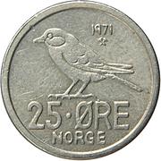 25 øre - Olav V (oiseau) -  revers