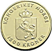 1500 Kroner - Harald V (150th anniversary of the birth of Edvard Grieg) – avers