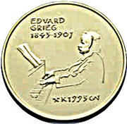 1500 Kroner - Harald V (150th anniversary of the birth of Edvard Grieg) – revers