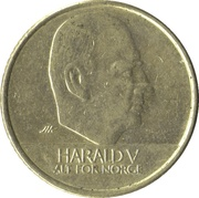 10 kroner Harald V -  avers