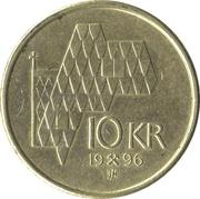 10 kroner Harald V -  revers
