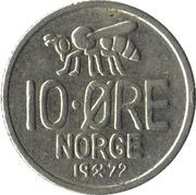 10 øre - Olav V (abeille) -  revers