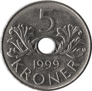 5 kroner - Harald V (Ordre de St Olaf) -  revers
