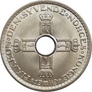 1 krone - Haakon VII -  avers