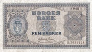 5 Kroner 1945-1954 – avers