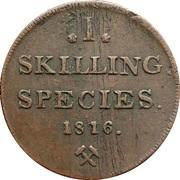 1 Skilling - Karl XIII – revers