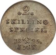 2 Skilling - Carl XIV – revers