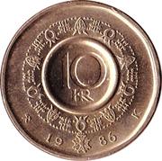 10 kroner Olav V -  revers