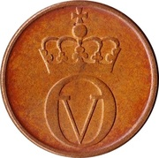 2 øre - Olav V (grandes inscriptions) -  avers