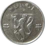 1 øre - Haakon VII (occupation allemande) – avers