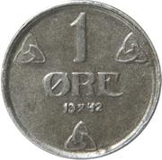 1 øre - Haakon VII (occupation allemande) – revers