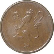 5 øre - Olav V -  avers