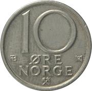 10 øre - Olav V -  revers