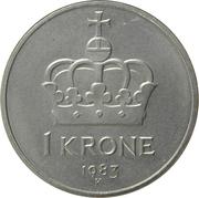 1 krone - Olav V -  revers