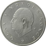 5 kroner Olav V (type 2) -  avers
