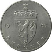5 kroner Olav V (type 2) -  revers