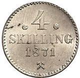 4 skilling - Carl XV – revers
