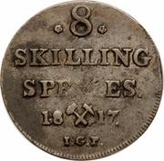 8 skilling - Carl XIII – revers