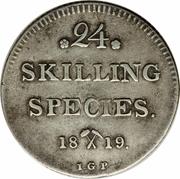 24 skilling species - Carl XIV – revers