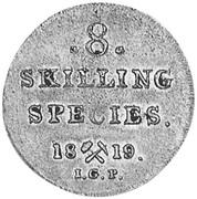 8 Skilling , 1/2 Mark – revers