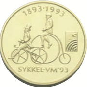 1500 Kroner (World Cycling Championships) – revers