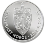 200 kroner - 75th birthdays of the king and queen – revers