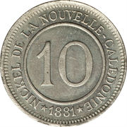 10 centimes (Le Nickel) – revers