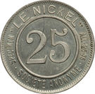 25 centimes (Le Nickel) – avers