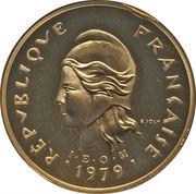 100 francs (Piéfort or) – avers