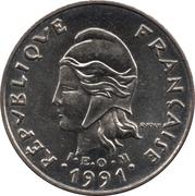 10 Francs (IEOM) -  avers