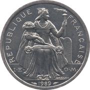 2 Francs (IEOM) – avers