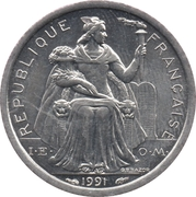 1 Franc (IEOM) -  avers